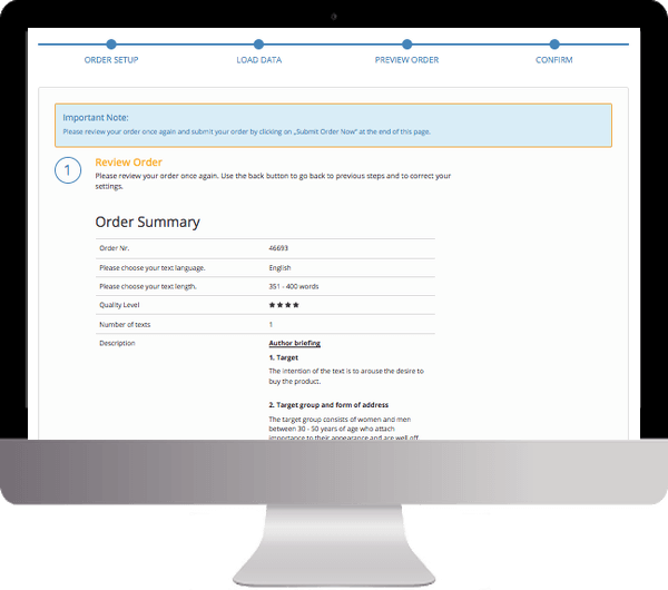 Step 4: Charge Your Account and Submit Your Order