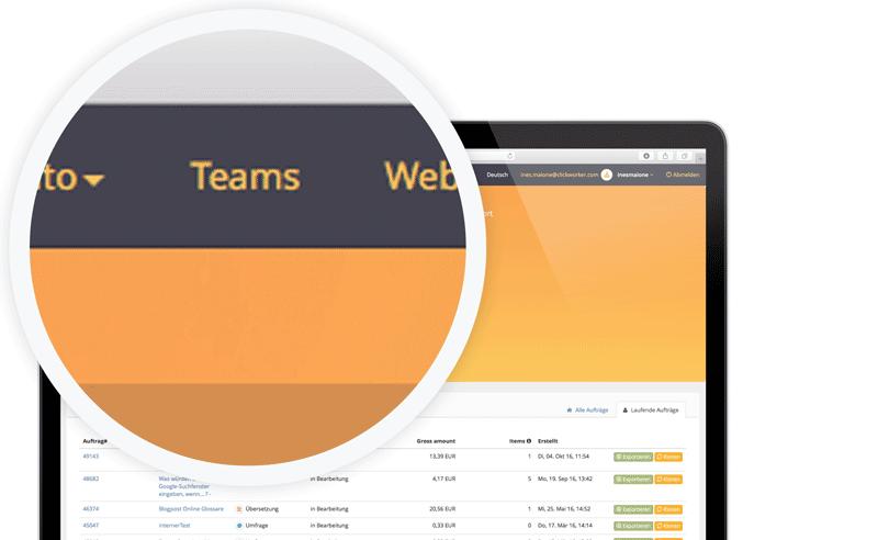 Erstellung von Teams