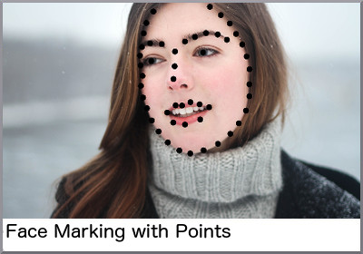 Face marking with points