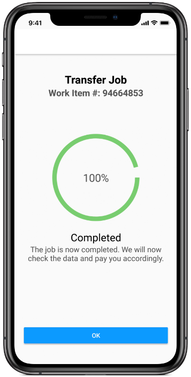 Clickworker App send audio recordings