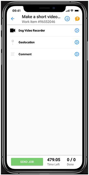 Clickworker-App Videoaufnahme erstellen