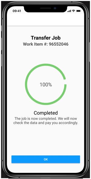 Clickworker-App Videoaufnahme senden